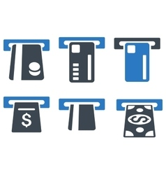 Ticket Terminal Flat Icons vector