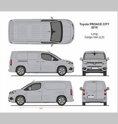Toyota proace city cargo van l2 2018-present vector