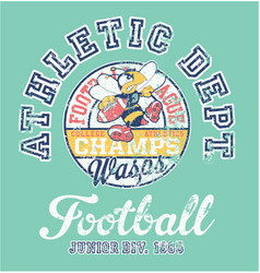 wasps american football team athletic department vector image vector image