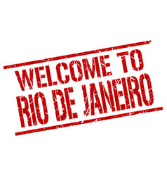 Welcome to rio de janeiro stamp vector