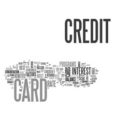 what s the best credit card for me text word vector image