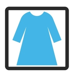 Woman Dress Framed Icon vector