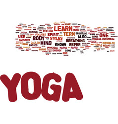 Yoga learn text background word cloud concept vector