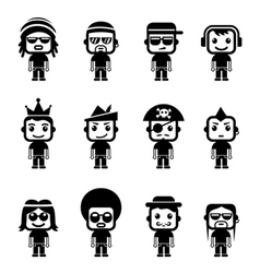 Avatar Character Set vector image vector image