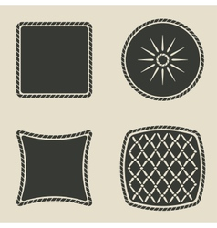 cushion stylized icons set vector image vector image