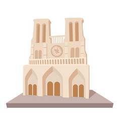 French castle icon cartoon style vector