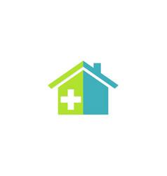 house medic hospital logo vector image vector image