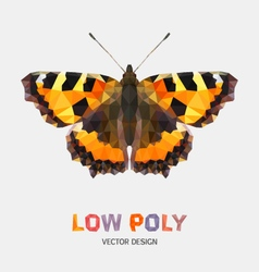 Low poly design of butterfly vector image vector image
