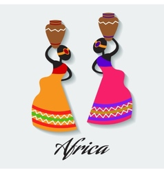 africa woman vector image