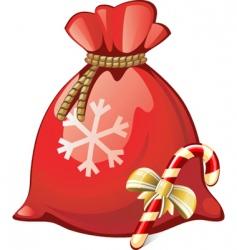 Santa sack vector image
