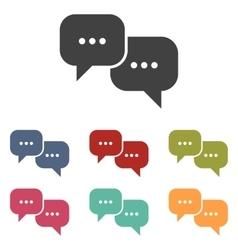 Speech bubble icons set vector image