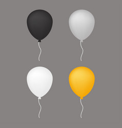 white grey balloon vector image vector image