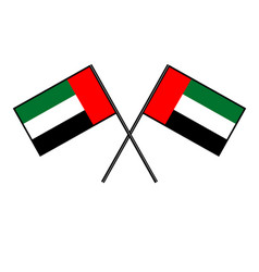 flag of the united arab emirates stylization of vector image