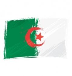 grunge Algeria flag vector image vector image