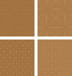 Light brown seamless pattern background set vector