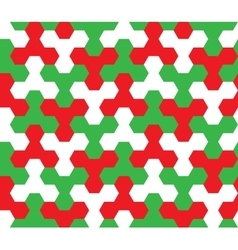 Seamless Geometric Pattern Christmas Ornament vector image vector image