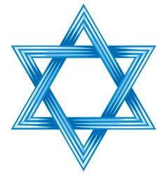Star of david - symbol of israel vector image
