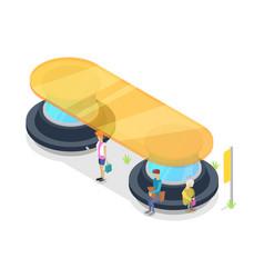 transport passenger platform isometric 3d icon vector image vector image