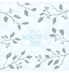 tree branches background vector image vector image