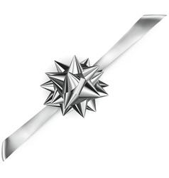 Beautiful shiny bow vector image vector image