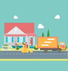 cartoon delivery service concept vector image vector image