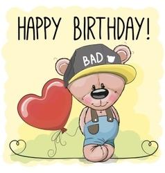 Cute Cartoon Teddy vector image