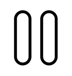 pause black color icon vector image vector image