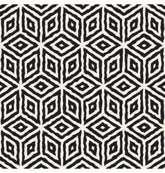 Seamless Hand Painted Geometric Rhombus vector image vector image