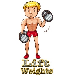 Weights vector image vector image
