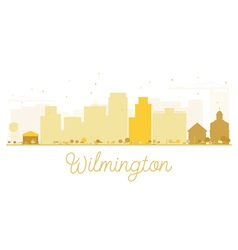 Wilmington City skyline golden silhouette vector image vector image