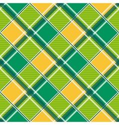 Yellow Green White Diamond Chessboard vector image vector image