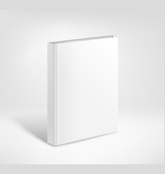 3d blank hardcover book mockup paper book template vector