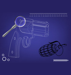 3d model of a pistol vector image