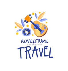 adventure travel logo design summer vacation vector image