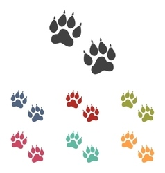 Animal Tracks icons set vector image