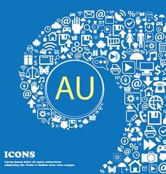 australia sign icon Nice set of beautiful icons vector image