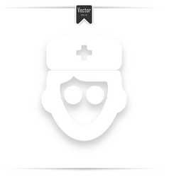 avatar doctor with flat icon vector image