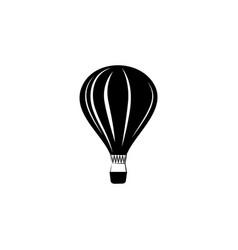 balloon icon black on white background vector image