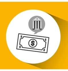 Bank concept safe money icon vector