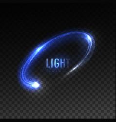 Blue circular light stream isolated on vector