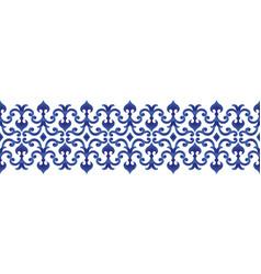 Blue decorative line design vector