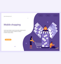 business people shop online vector image