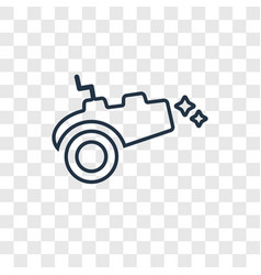 cannon concept linear icon isolated on vector image