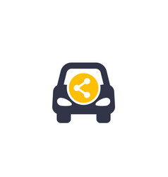 carsharing carpooling icon vector image