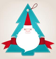 christmas santa label vector image