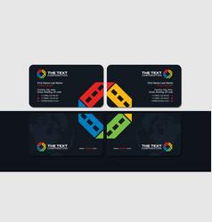Cinema business card vector