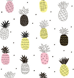 Colorful abstract pineapples seamless pattern vector