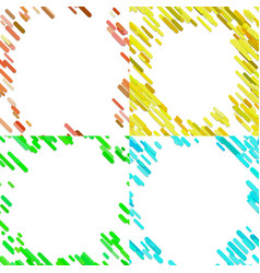 colorful random diagonal stripe pattern vector image