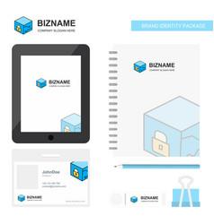 Cube business logo tab app diary pvc employee vector
