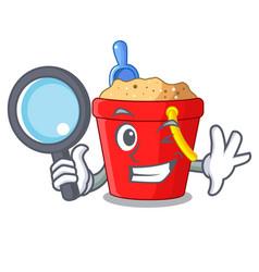 Detective beach bucket shape the fun character vector